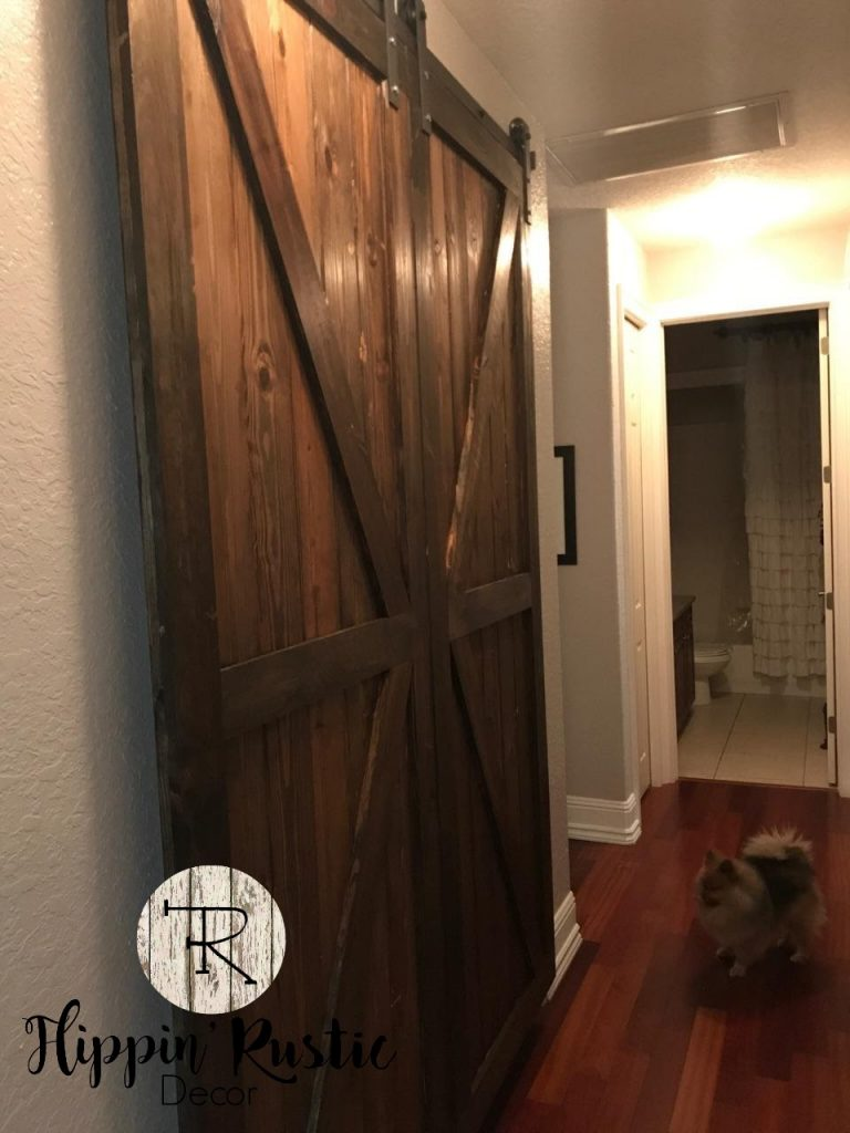 Stained Double Barn door