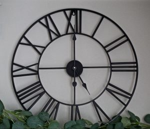 Oversized Metal Wall Clock