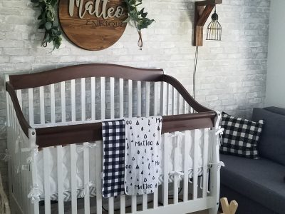 Modern rustic refurbished crib