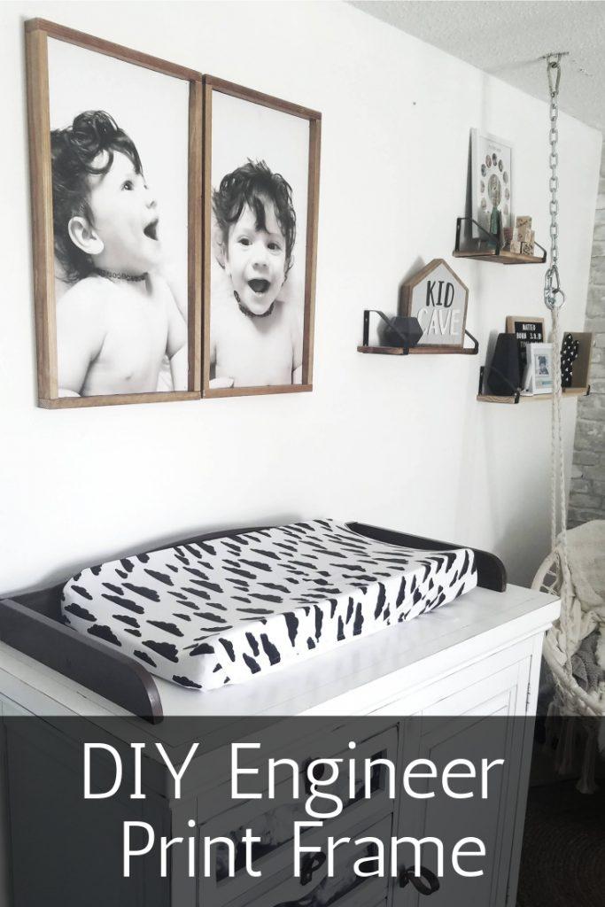 Nursery room with DIY Engineer Prints