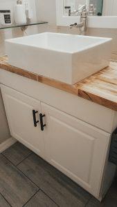 Modern Rustic Bathroom Vanity