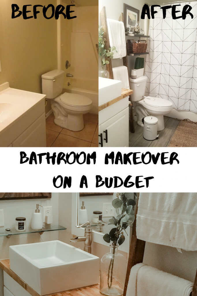 Modern Rustic Bathroom Makeover