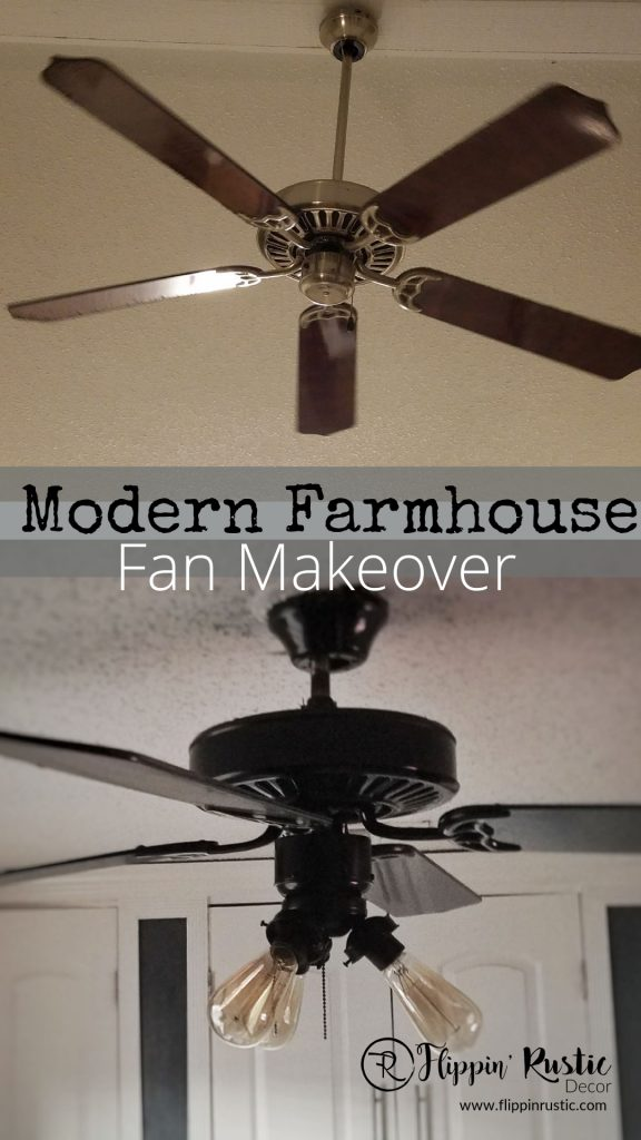 modern farmhouse fan makeover