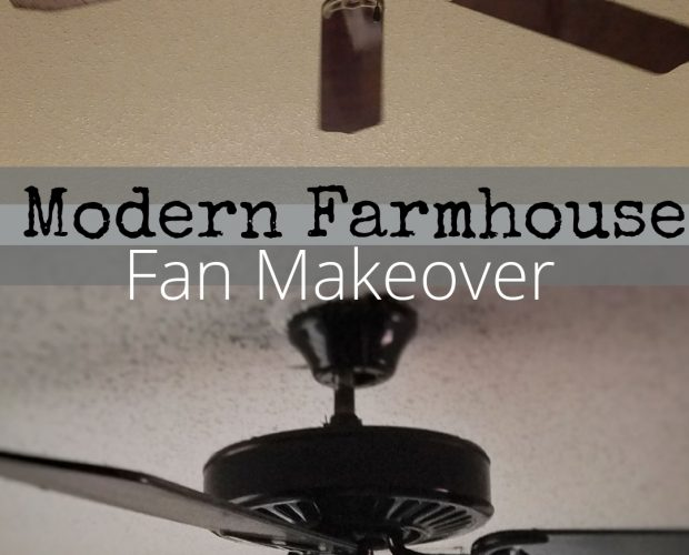 modern farmhouse fan makeover