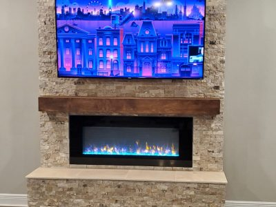 Fireplace build-out