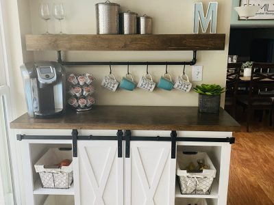 buffet cabinet with barn doors